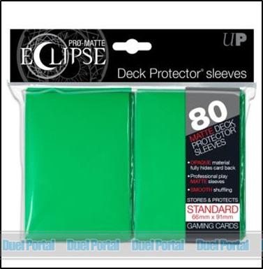 ウルトラプロ 通常サイズカード用デッキプロテクター 非光沢[イクリプス]/緑