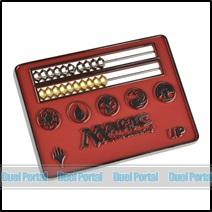 ウルトラプロ マジック カードサイズそろばん型ライフカウンター/赤