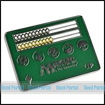 ウルトラプロ マジック カードサイズそろばん型ライフカウンター/緑