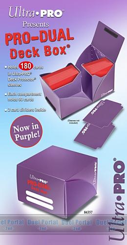 プロ仕様デュアルデッキボックス 大型(180枚用) パープル(紫)